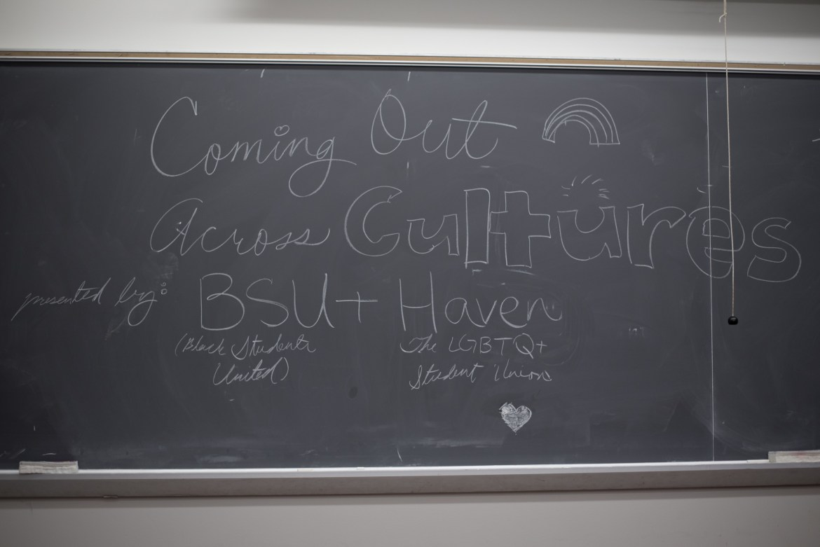 "BSU and Haven host ""Coming Out Across Cultures"" -  a intersectional discussion on coming out. (Alice Song / Sun Staff Photographer)"