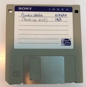 Habicht's original floppy disk.