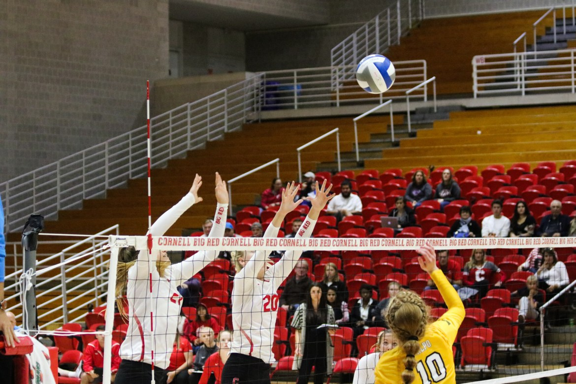 The volleyball team came up short against both Harvard and Dartmouth this weekend but remains confident.