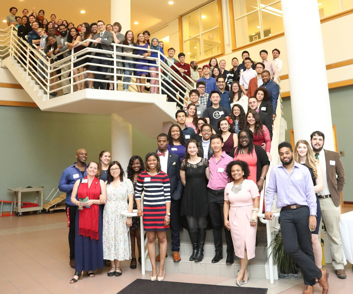 A coalition of graduate and professional students, some pictured above at a recognition banquet in May, issued a series of demands to Cornell last week.