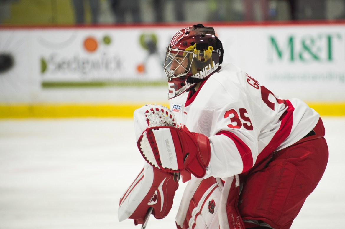 Only six games into the season and his career, Galajda is tied for second-most shutouts for a freshman goaltender in Cornell history.
