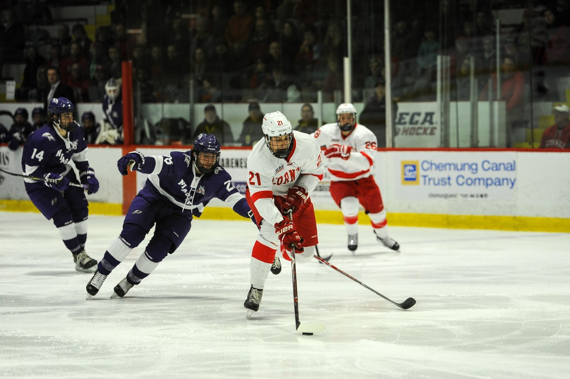 Facing the chance of its second-straight loss entering the third period, Cornell stormed back to improve to 7-1 on the season.