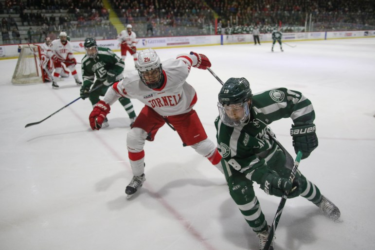Cornell will look to keep its undefeated start alive against archrival Harvard Saturday night.