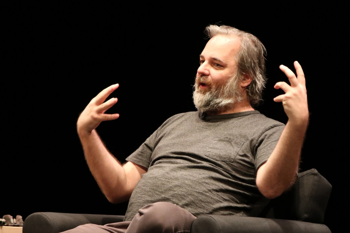 Dan Harmon spoke to a sold out show Friday evening.