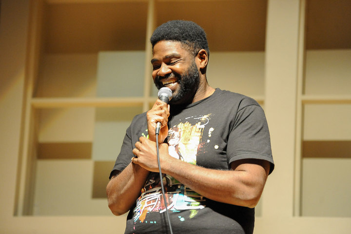 Ron Funches, who who has performed on 'Conan' and starred in the NBC series 'Undateable,' gives a stand-up performance to students Sunday night.