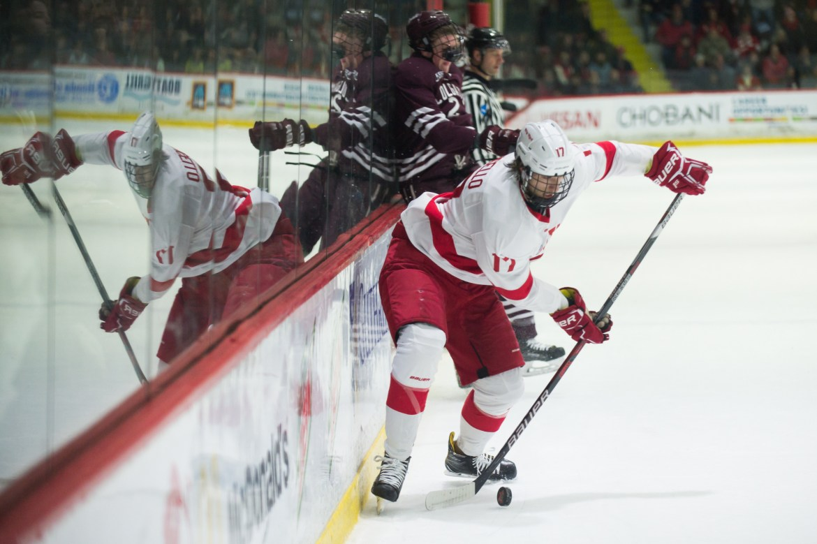 After a home-and-home sweep of Colgate this past weekend, the Red looks to extend its unbeaten streak on the road against archrival Harvard and Dartmouth.