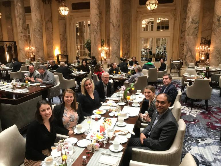 Soumitra Dutta dined with Cornell Alumni Affairs officials at the Palace Hotel in San Francisco on Jan. 18, according to a Facebook post.