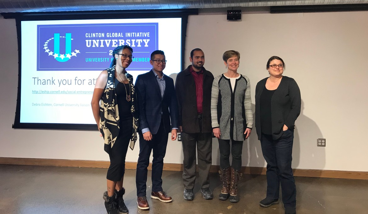 Cornell researchers collaborated to develop solutions to global health issues at CGIU.
