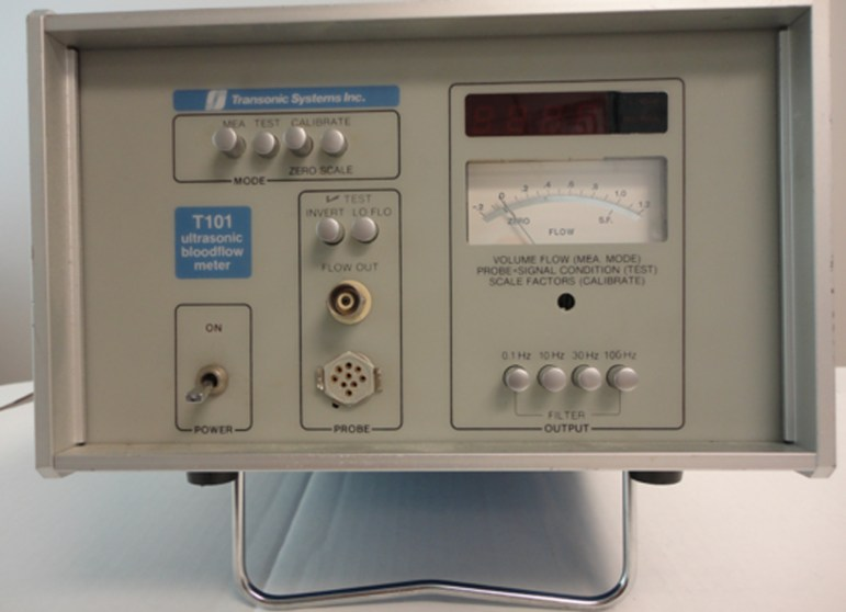 Faster than the speed of sound | This T101 Ultrasonic Bloodflow Meter was Transonic Systems' first commercially available flowmeter