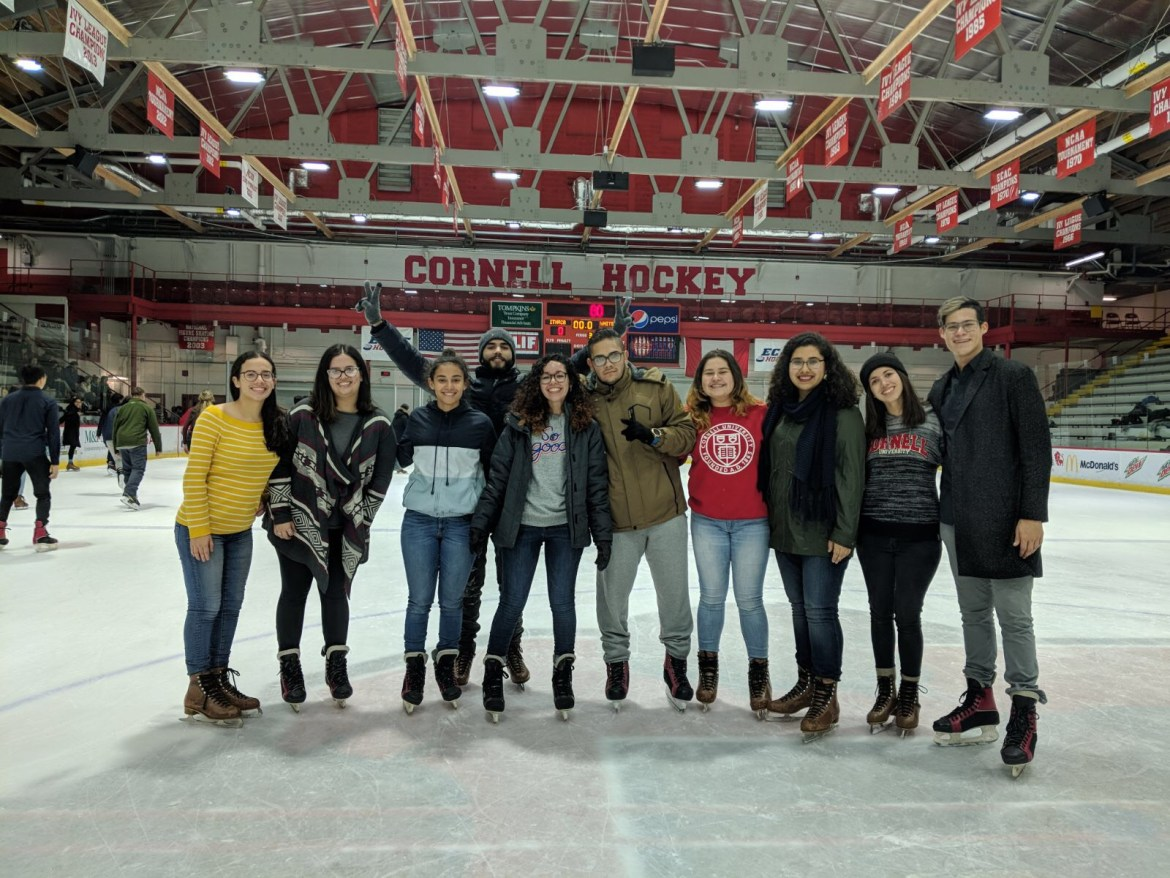 Some of the students from the University of Puerto Rico attended an event at Lynah Rink at the beginning of the semester.