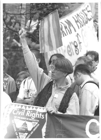 Cornellian queer activist and student leader at the March on Washington.