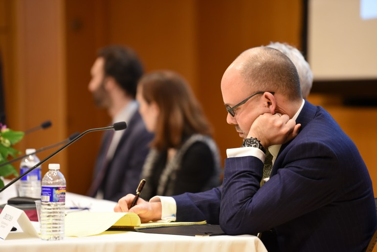 Professors from Yale and Cornell came together at Klarman Hall on Thursday to debate whether or not war could be prevented by law. (Boris Tsang/Sun Assistant Photography Editor)
