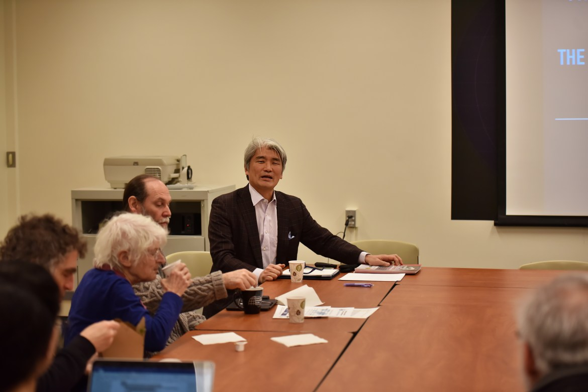 Prof. Hirokazu Miyazaki detailed the history of the friendship doll exchange and citizen diplomacy between the U.S. and Japan at a lecture on Thursday.