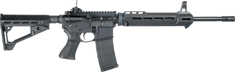 The Savage MSR-15 Patrol rifle, the weapon police said they found inside Reynolds' apartment.