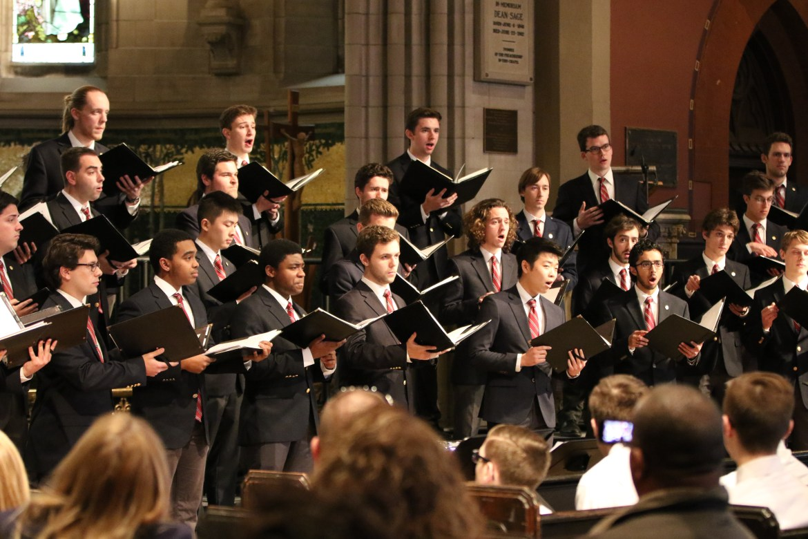 Jason Ben Nathan / Sun Archives  The Glee Club perform in Sage Chapel on Saturday February 27, 2016.