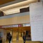 The Want Project displayed banners in Sage Hall, the Statler and Willard Straight Hall to honor International Women's Day.