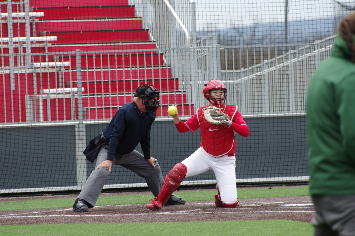 The Red got a big boost in its first game of the season thanks to a Grand Slam by sophomore Bridgette Rooney.