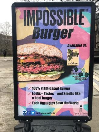 advertisement for burger