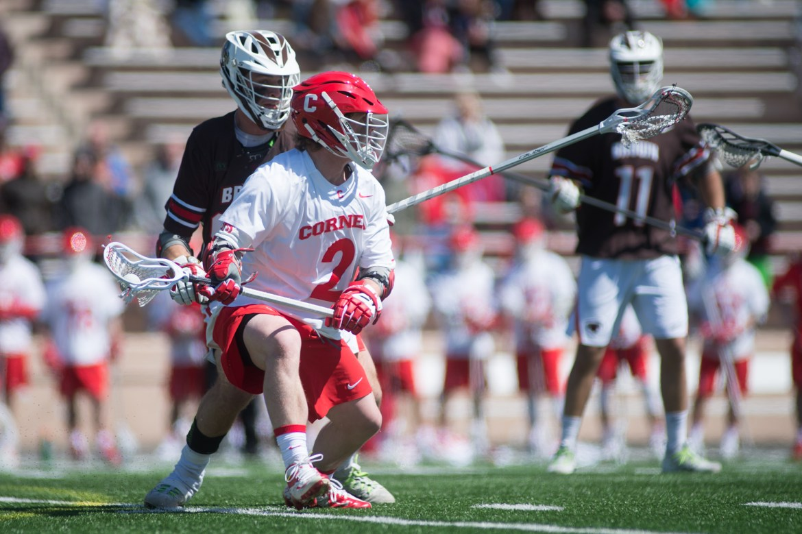 Junior attack Colton Rupp was among the standouts for Cornell last weekend, scoring three goals in the senior day matchup against Brown.