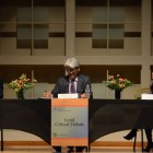 Facing off in the debate were Soo-Hyuck Lee, former head of South Korea's delegation to nuclear negotiations and Sue Mi Terry, a longtime East Asian intelligence official in the U.S. government.