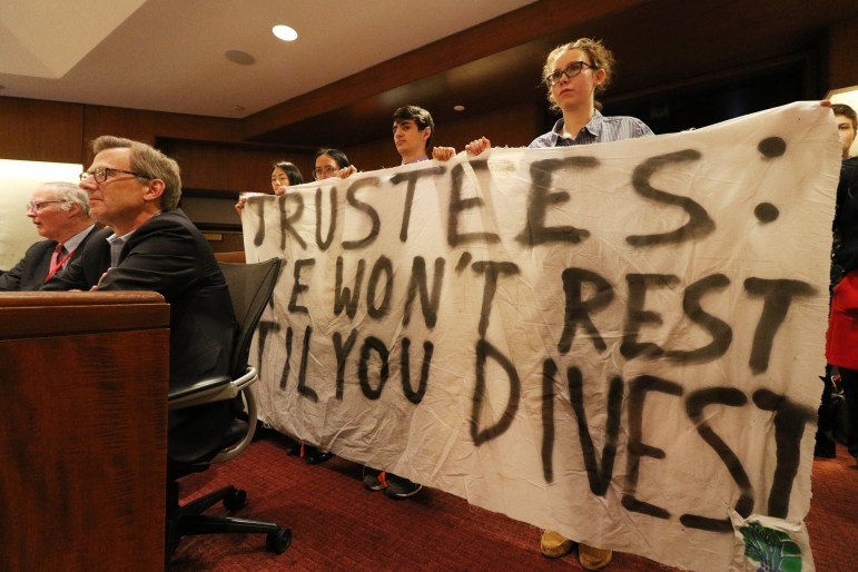 After months of protests on the part of Climate Justice Cornell and other activists, the Board of Trustees voted to divest from fossil fuels.