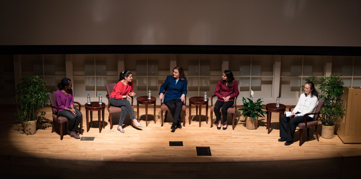 Panelists discussed some challenges associated with being a woman in tech.
