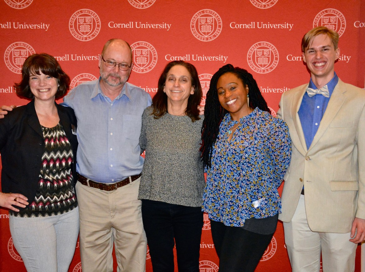 Director Lisa Klein (center) spoke after a screening of her documentary on campus.
