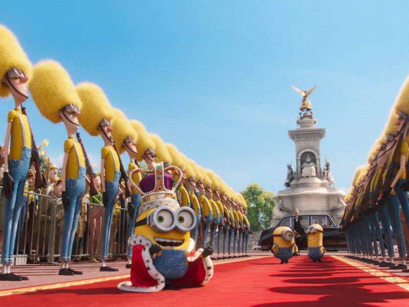 A minion ascends to the throne.