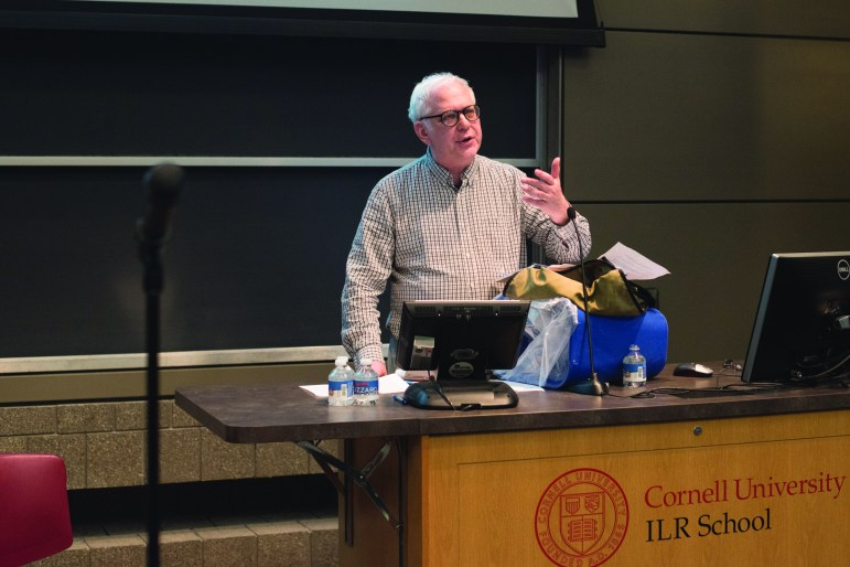 Prof. Richard Miller, philosophy, argued in support of CRP-B.