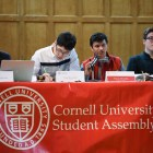 This year's controversial S.A. election between Dale Barbaria '19 and Varun Devatha '19 (pictured above at a S.A. meeting on April 12) prompted the reform.