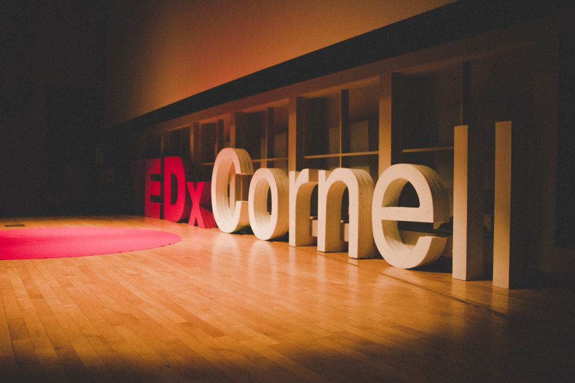 The TEDxCornell event, held in Statler Auditorium, featured a variety of Cornell speakers.