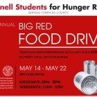 Cornell Students for Hunger Relief will hold a food drive encouraging students to purchase goods to donate with their leftover BRBs.