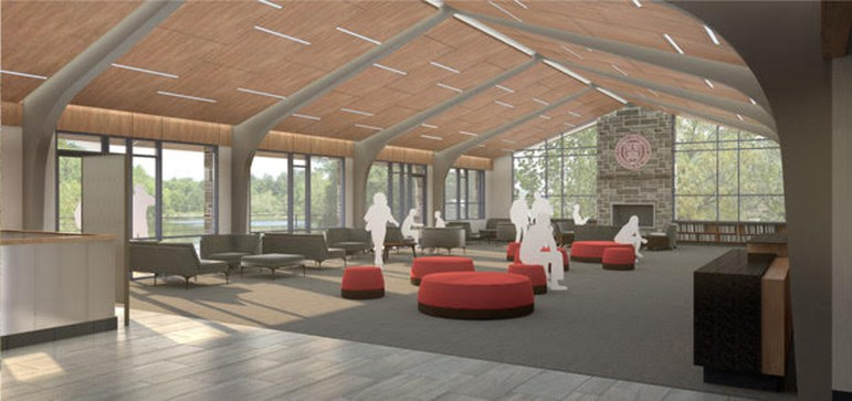 """The center will include a """"Great Room"""" overlooking Beebe Lake."""