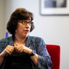 President Martha E. Pollack from her May 15th interview with The Sun.