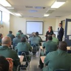 Esta R. Bigler '70 and Tim McNutt of the ILR School teach a course on employment rights at the Queensboro Correctional Facility in New York City.