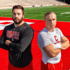 For the first time since 2009, Cornell football named just two captains: J. Edward Keating (left) and Reis Seggebruch (right).