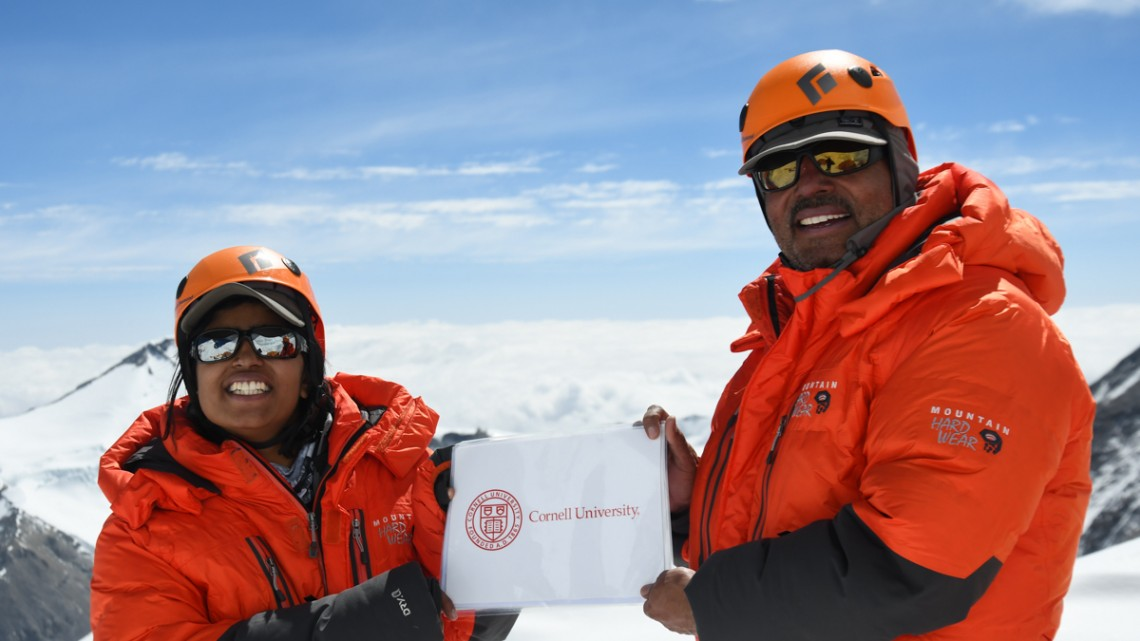 Deeya Bajaj '16 and her father, Ajeet Bajaj ascended the summit of Mount Everest, the world's highest peak, becoming the first Indian father-daughter duo to make the commanding heights.