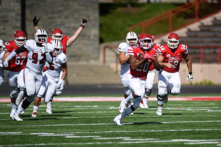 Junior running back Harold Coles gets past the defense for an 85-yard touchdown run. It was the second-longest run of his career.