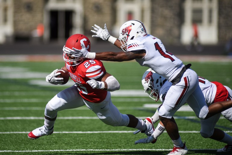 Junior running back SK Howard was one of six Cornell players to score a touchdown against Sacred Heart.