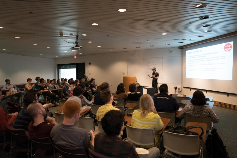 Cornell Graduate Students United discussed potential initiatives for the semester at their meeting on Wednesday. (Ben Parker / Sun Contributor)