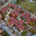 North Campus by air, populated almost entirely by freshmen.