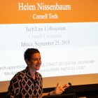 "Prof. Helen Nissenbaum, information science, examined issues with ""big data exceptionalism"" at a colloquium on Tuesday."