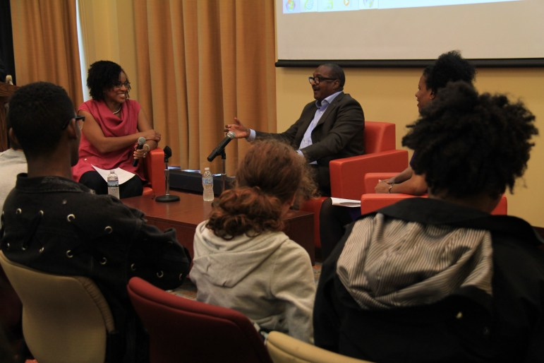 Mathew Knowles, music executive and father of Beyoncé, spoke about his experiences with racism and encouraged students to speak up about injustices. (Haonan Peng / Sun Staff Photographer)