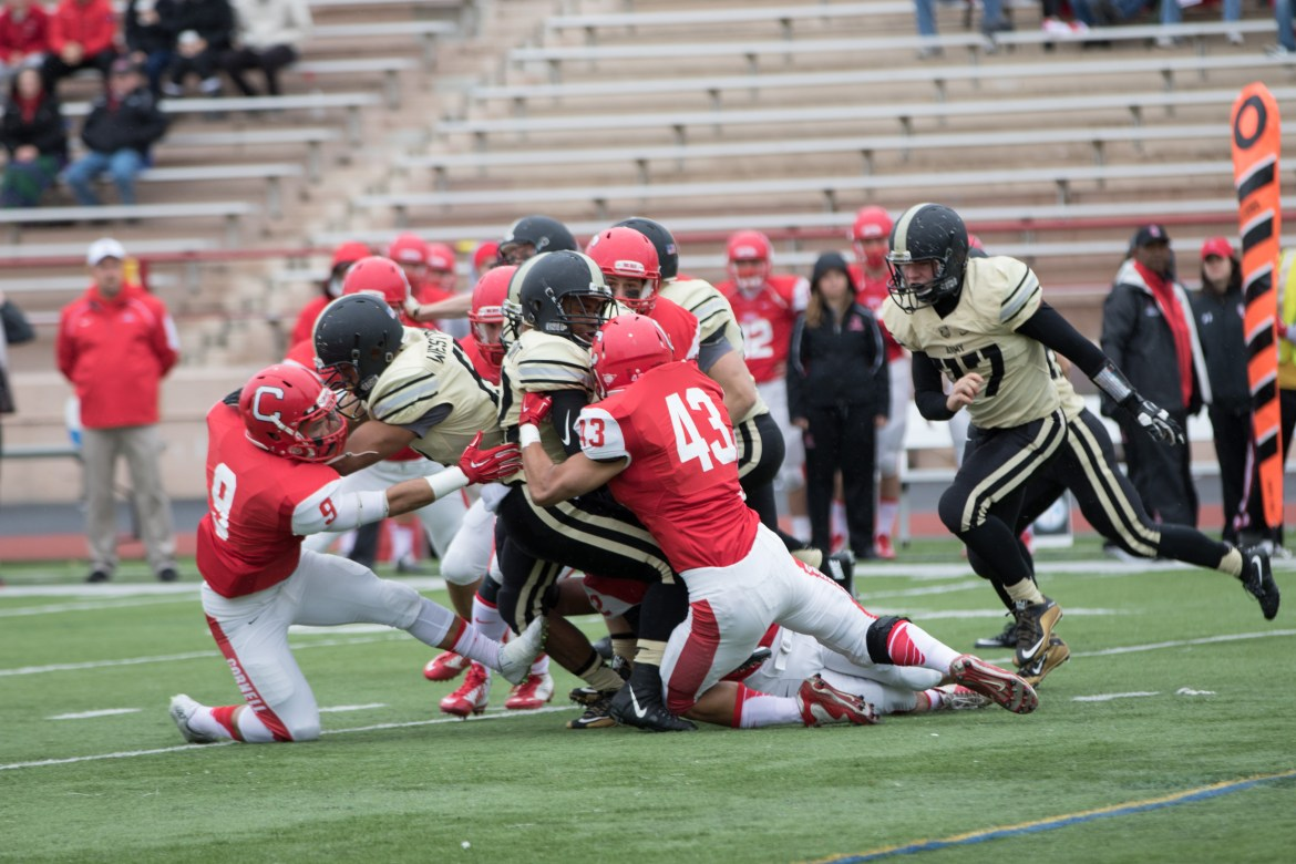 Despite losing much of its defensive line to graduation over the off-season, Cornell quelled many concerns as it finished the day with three interceptions and six forced turnovers.