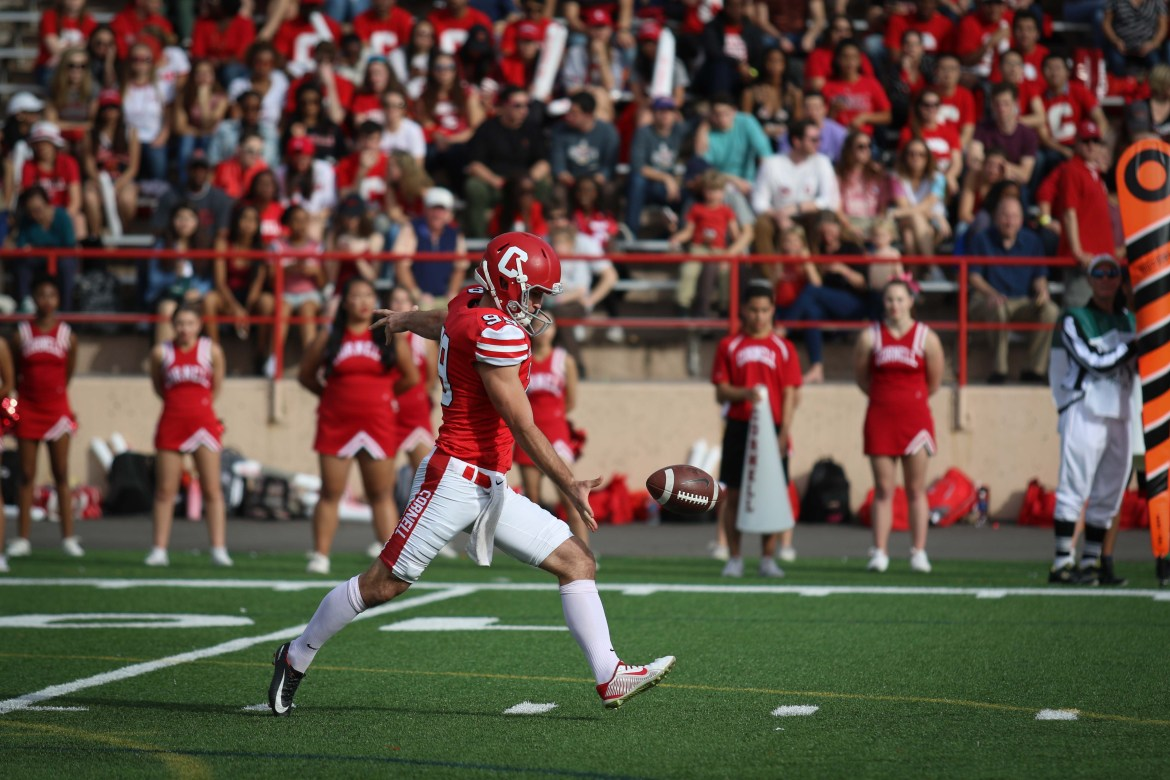 Nickolas Null was an unsung hero for Cornell last season, and he'll be the punter, place kicker and field goal kicker to start the year.