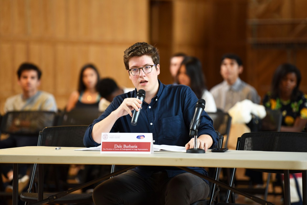 Dale Barbaria '19, S.A. vice president for finance, sponsored the S.A. resolution that granted the funding to the Chinese Students Association.