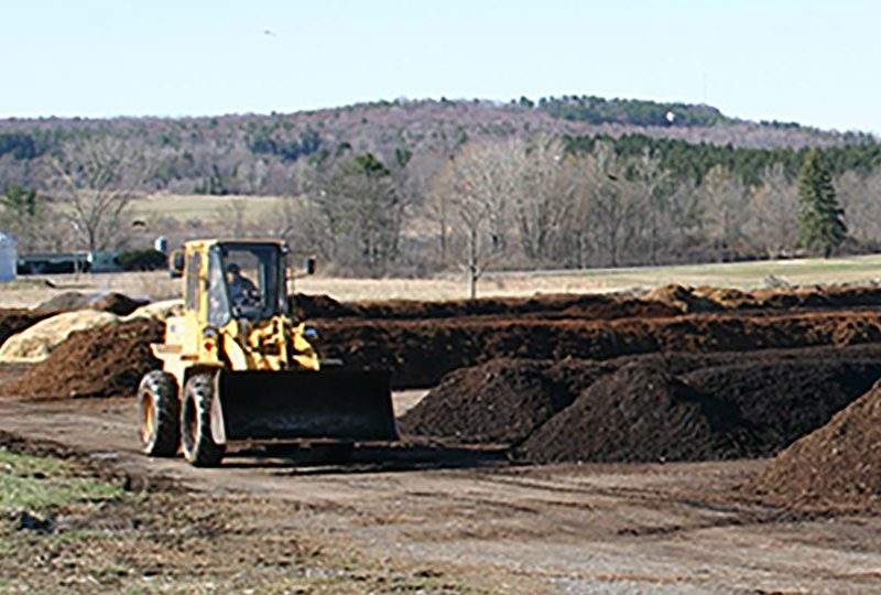 Cornell's compost facility processes food waste.