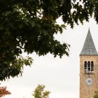 Cornell Chimes first started ringing on Oct. 7, 1868 while mounted on a wooden stand.