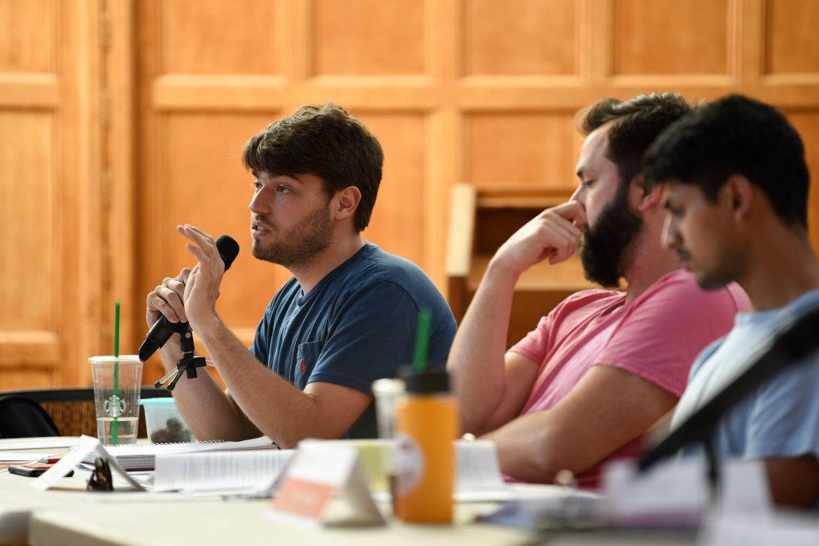 Ian Wallace '20 (left), chair of the SAIFC, hopes that students can provide ideas on the next Cornell infrastructure project.