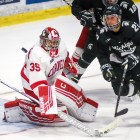 Sophomore goalie Matt Galajda and the Red hope to earn a series split with Michigan State.